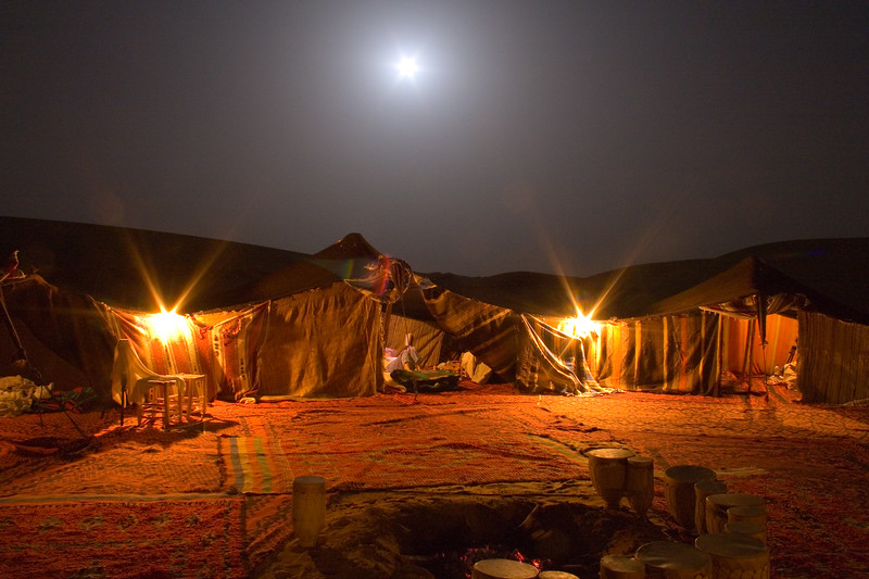 A night in the Saraha Desert.