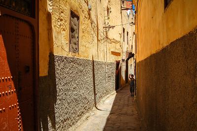 Boy in alley, Meknes, Morocco