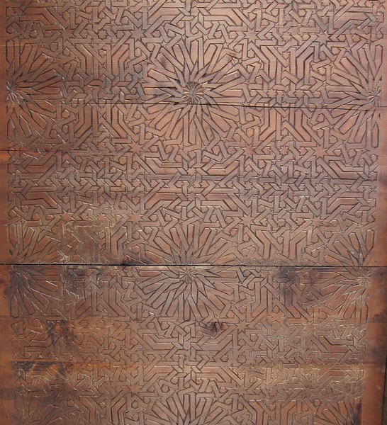 Part of a wonderful wooden ceiling captured in the souk - Rabat, Morocco