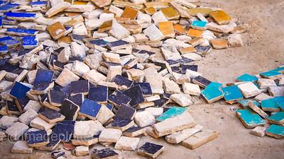 Mosaic Tiles in a Kasbah, Marrakech