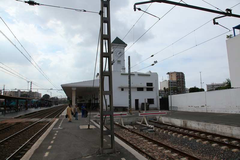 View from our train towards the `Casablanca Voyageur station..