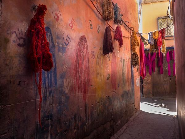 Fabric Dyer's Souk, Marrakech