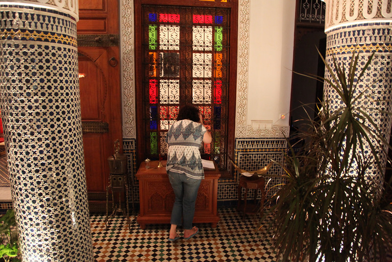 Banu checking out the guestbook..