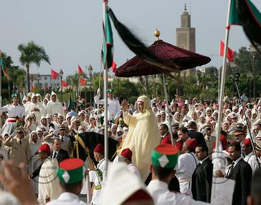 RABAT Le 31/07/06 Fte du Tr™ne ˆ Rabat : AllŽgence au Roi Mohammed VI ©Didier BAVEREL