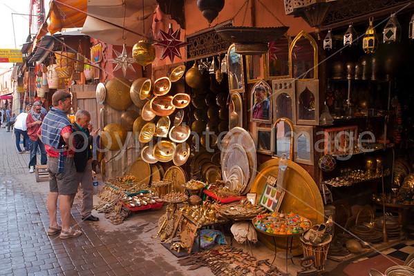 Dealing in the souk in Marakesh