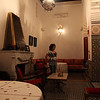 My wife, still flabbergasted because of the beauty in this Riad...