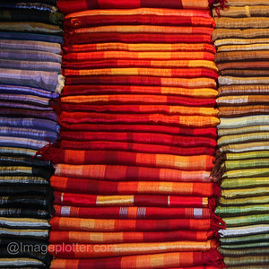 Fabrics in the Medina II, Marrakech