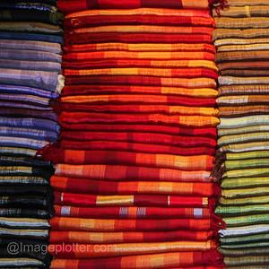 Fabrics in the Medina II, Marrakech