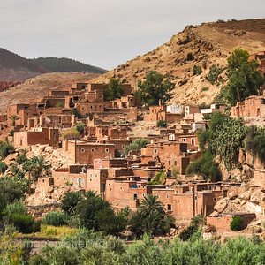 Berber Village in the High Atlas Mountains I, Morocco