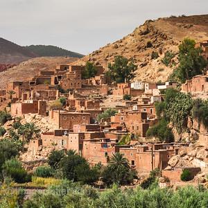 Berber Village in the High Atlas Mountains I, Morocco