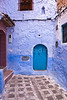 The town of Chefchaouen is between Fez and Tangier and is renowned for the blue rinsed houses and buildings