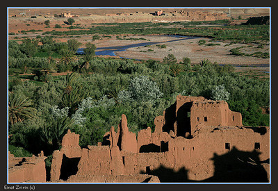 Melting Ait Ben Haddou Kasbah  Constructed of mud, the rains take their toll on the walls