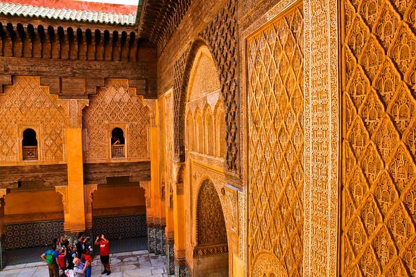 Walls of the Ben Youssef Medrasa