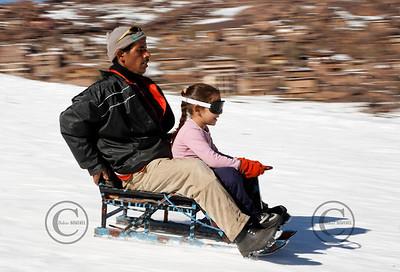 Oukeimeden le 24/12/2006 IG: Station de ski de l'Atlas ˆ 2600m d'altitude  ©Didier Baverel/Starface