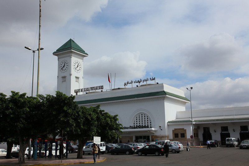 This train station was build by the french, who colonized this country for 44 years, from March 30, 1912 until March 2, 1956 when<br /> Morocco recovered its political independence from France.