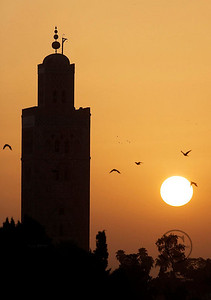 MARRAKECH  LE 10/09/2006  Koutoubia Aube  ©D. BAVEREL - STARFACE