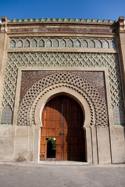 Bab El-Mansour (side entrance), Meknes