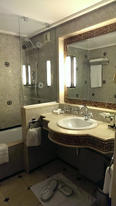 Bathroom at Sofitel Palais Jamai in Fez, Morocco.