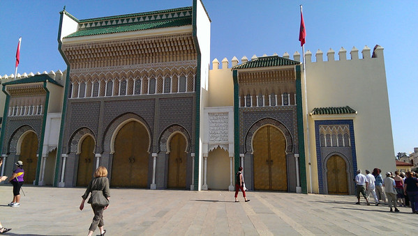 Presidential palace in Fez, Morocco.