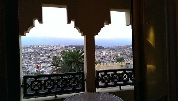 The medina from our terrace at Sofitel Palais Jamai in Fez, Morocco.