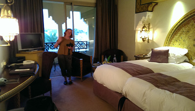 "Nancy taking pictures of our room at Sofitel Palais Jamai in Fez, Morocco. We were chosen as ""guests of the day"" and got a lovely upgrade."