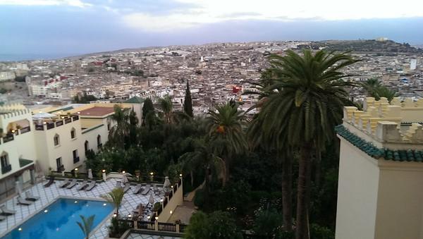 The medina beyond the Sofitel Palais Jamai in Fez, Morocco.