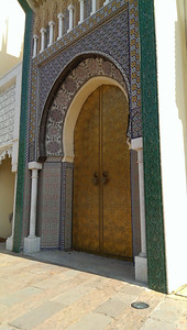 The doors to the palace in Fez.