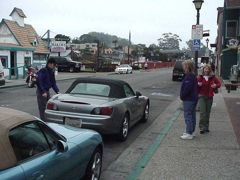 At the Embarcadero in Morro Bay.  Jim, Tina, Diana (L to R)