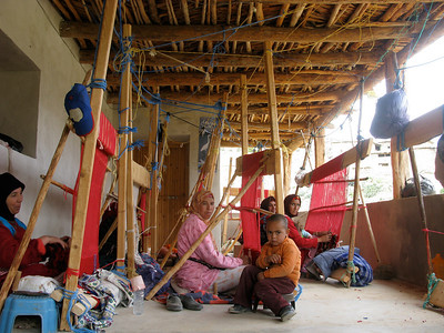 A weaving collective in the valley