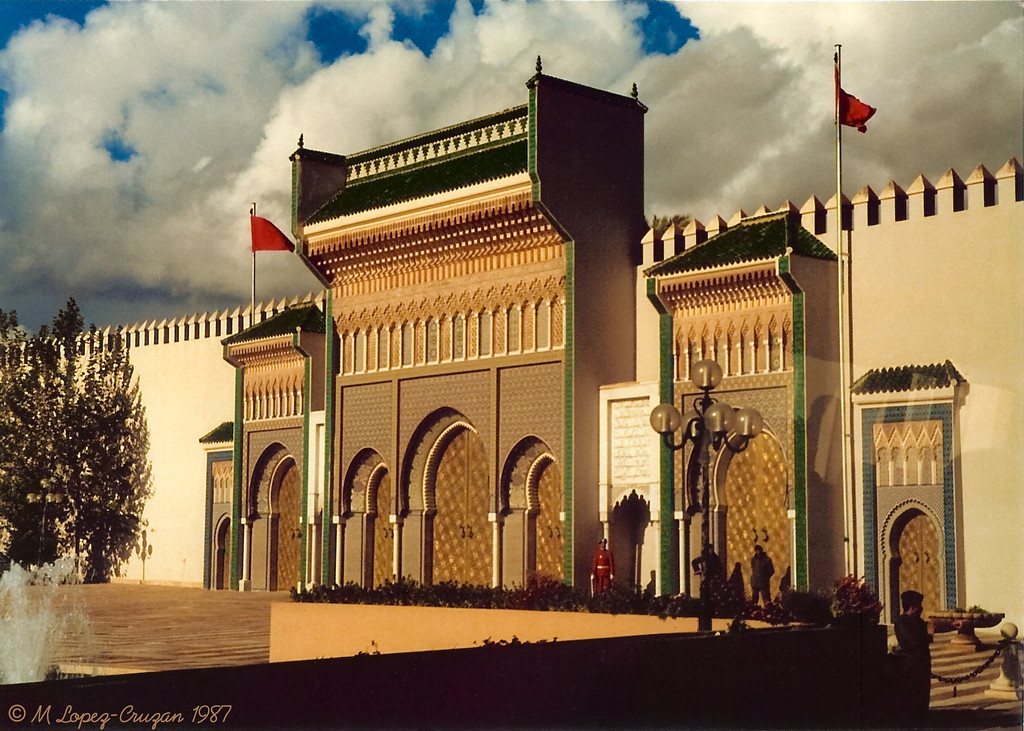 The main entrance to the Royal Palace, Fez