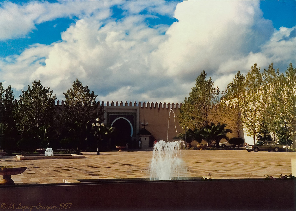The fountains of main patio in the Royal Palace of Fez.