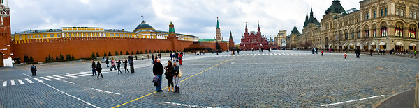 Stitched Panorama, Red Square from St Basil's