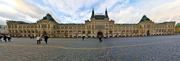 Stitched Panorama in Red Square