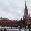 Nikolskaya Bashnya tower, and wall, at Red Square