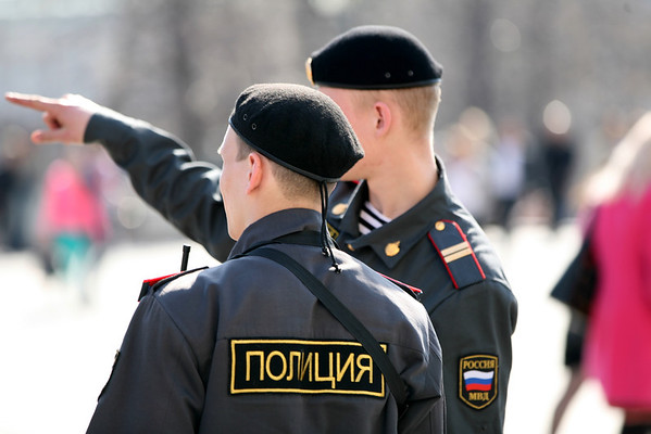 Police Officers near Red Square, Moscow