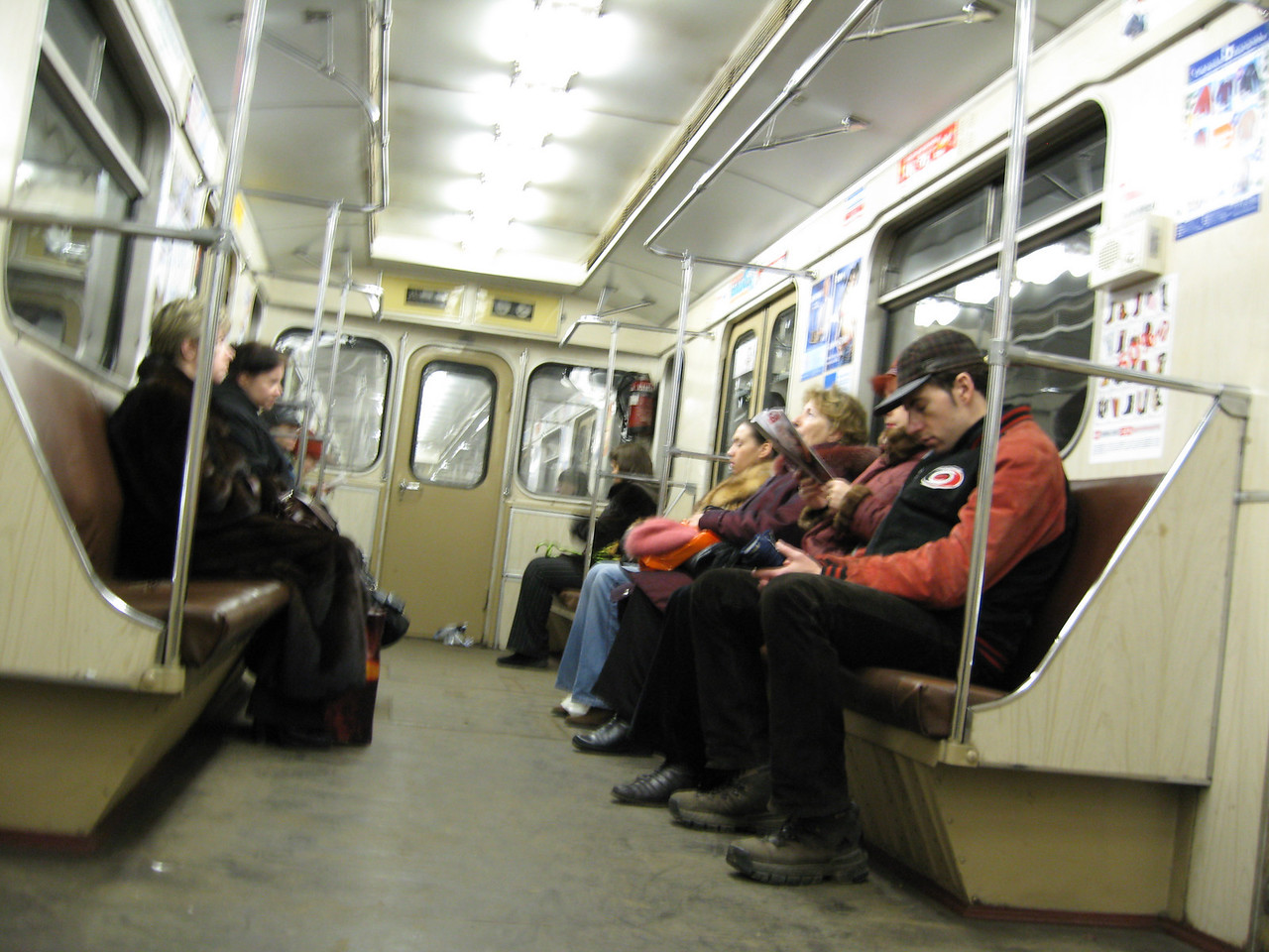 A quick shot of a subway car.  I tried not to be too obvious about it... I shot some video in the metro stations as well, but that will probably have to wait for editing and such before I upload.