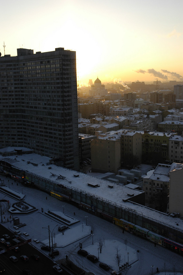 Sunrise over Moscow