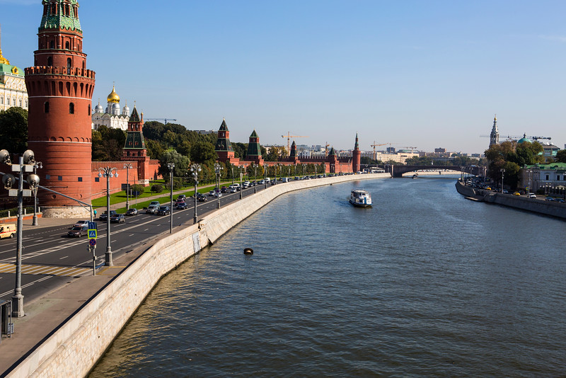 Moscow River with Kremlin Walls
