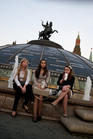 Moscow girls, near Red Square.
