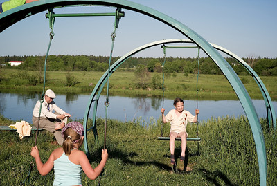 Summertime at the Volga near Dubna.
