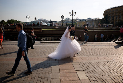 Wedding near Red Square.