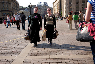 Moscow traditional fashion.