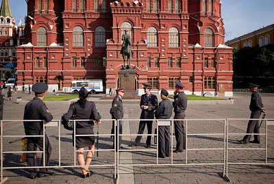 Security personal near Red Square.