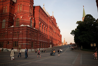 Entering Red Square.