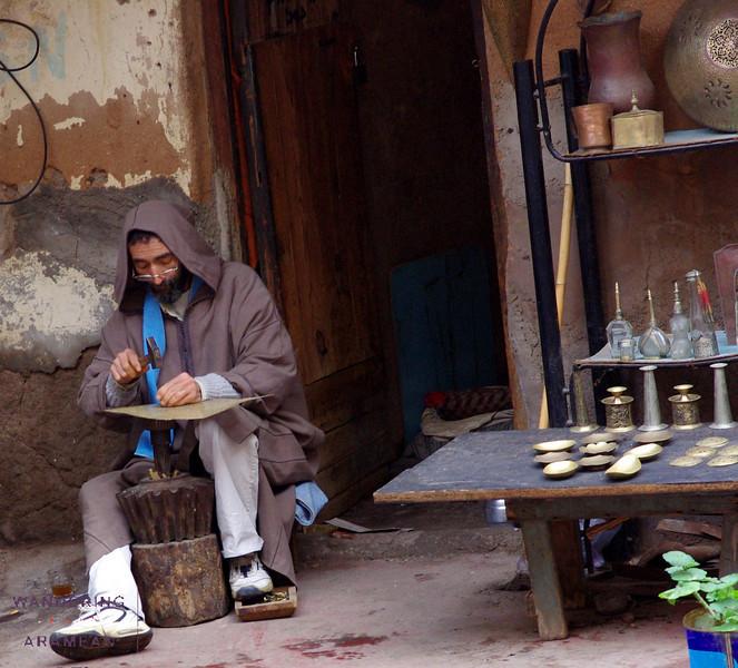 One of the few legit artisans in the Marrakesh Medina