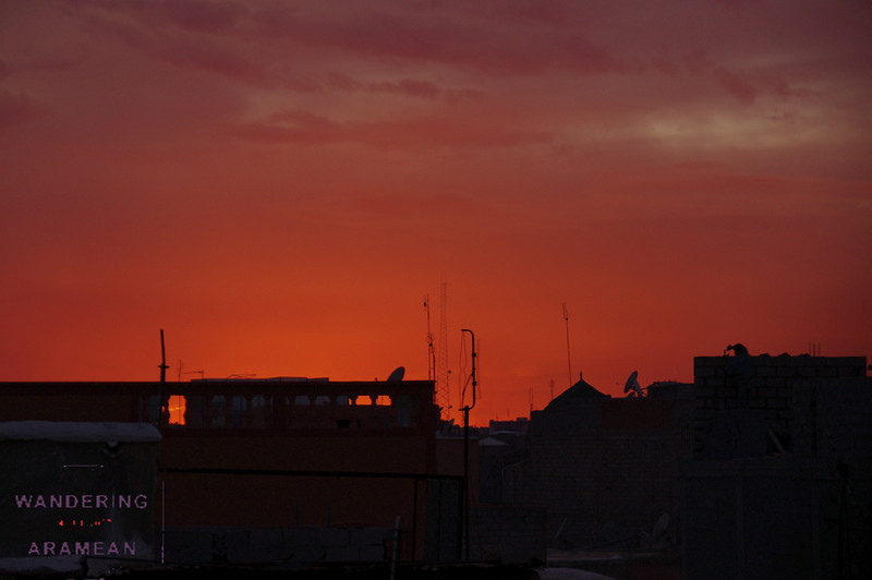Sunset from atop Riad Irene in Marrakesh