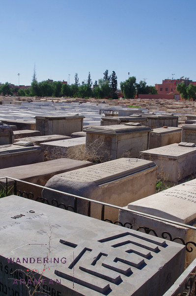 In the Jewish cemetery of Marrakesh