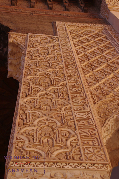 A very geometric pattern at the Saadian tombs