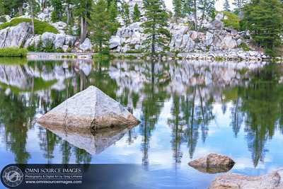 Mosquito Lake Pyramid Rock Reflections