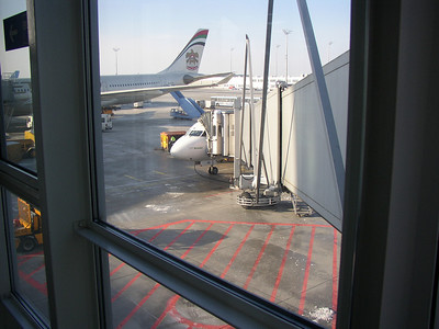 the plane is waiting